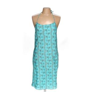 Vintage 90s GAP Silk Halter Slip Dress Paisley